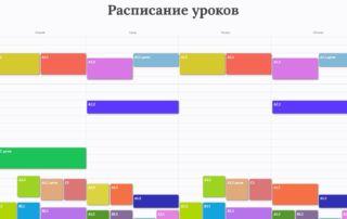 Расписание групп